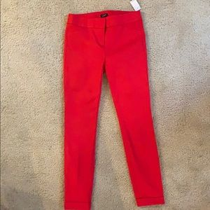 Red Cuffed Pants